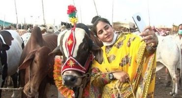 Ayesha Ghani female seller at Karachi Cattle Market