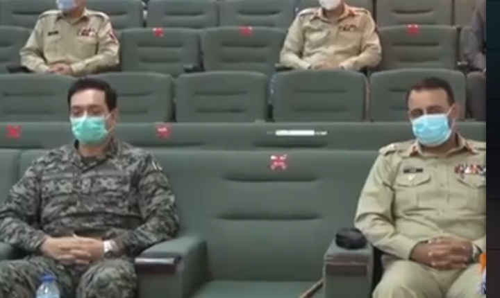 Army Chief meets Senior serving officers
