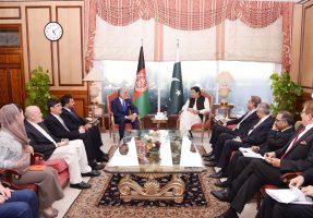 PM Imran khan Met Chairman Afghan Council for National Reconciliation Abdullah Abdullah
