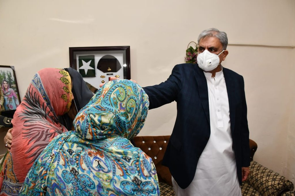COAS visited Nasir Hussain Khalid Sulehria Shaheed's home