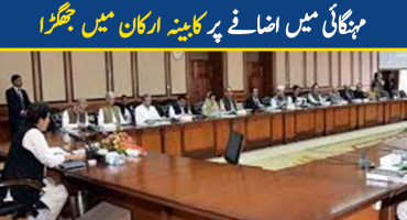 Federal cabinet members worried about inflation in Pakistan