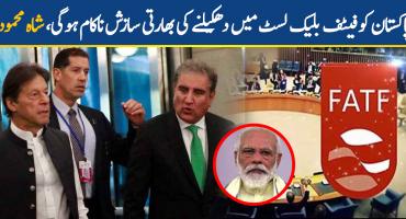Indian conspiracy to blacklist Pakistan has failed: Shah Mehmood