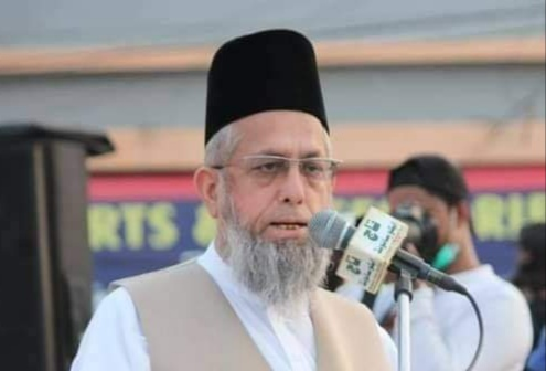 Funeral prayers of Maulana Adil Khan were offered earlier today