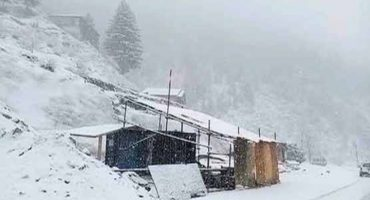 First winter snowfall started on Babusar top