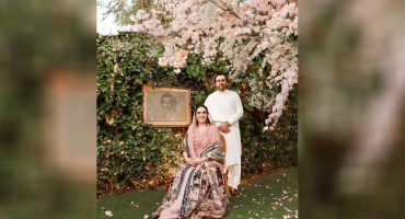 Bakhtawar Bhutto shared engagement picture with fiancé.