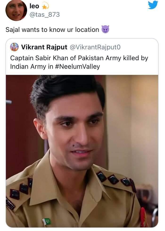 Pakistani Twitter trolls Indian user on mistaking Ahad Raza Mir as a Shaheed
