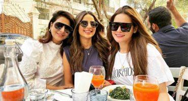 Minal enjoys Sunday brunch with Saboor and Areeba