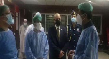 PM Khan visits PIMS hospital, its COVID ward