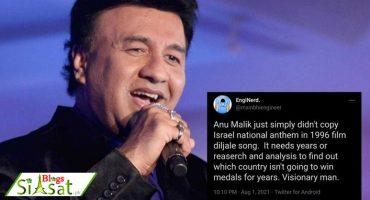 Anu Malik thrashed by Indian twitter for blatantly plagiarizing Israeli National Anthem